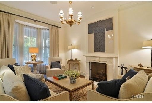 Rowhouse Traditional Living Room Chicago by Window Dressings