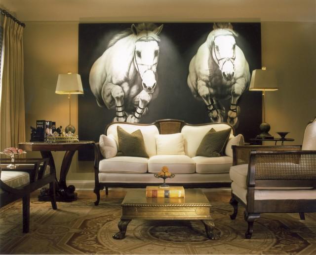 Royal Oak, MI Residence contemporary-living-room