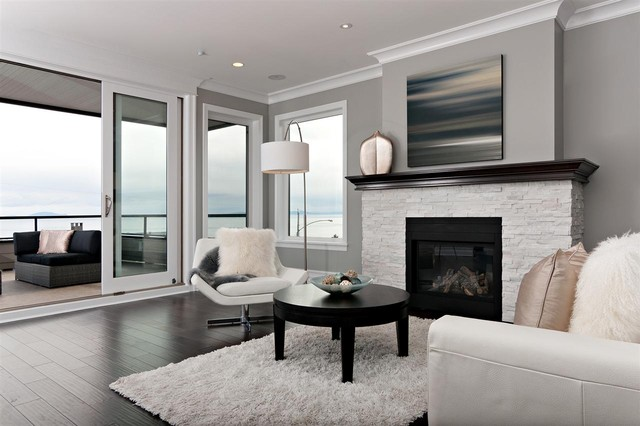 Royal Ocean View Contemporary Living Room Vancouver
