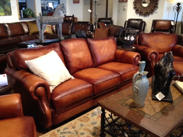 Town Country Leather Furniture Accessories Inspiration For A Rustic Living Room Remodel In Austin