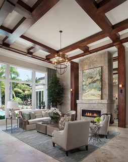Royalton Model - Old Palm Golf Club - Transitional - Living Room - Miami - by Courchene Development Corp