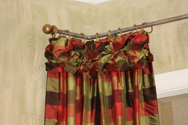 Ruched drapery Heading living-room