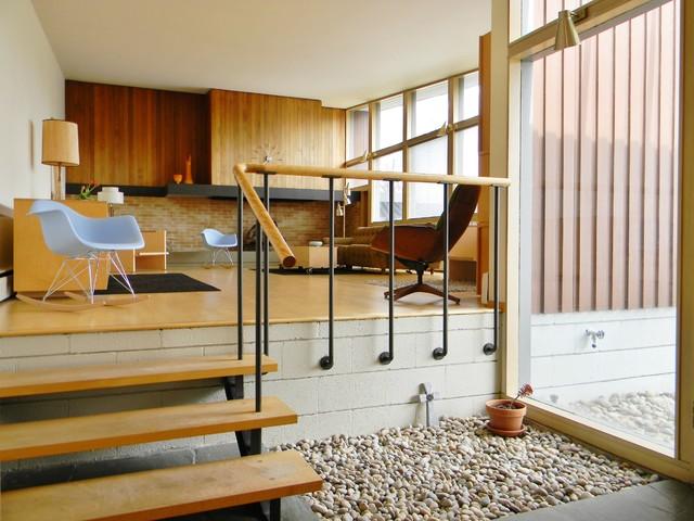 enchanting rural mid century modern midcentury bedroom seattle   Rural Mid-Century Modern - Midcentury - Living Room ...