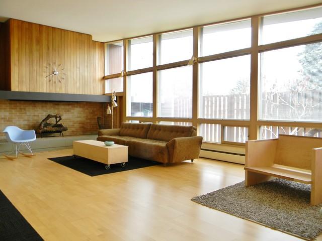 Rural Mid Century Modern Midcentury Living Room