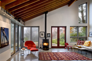 Russian River Studio contemporary-living-room