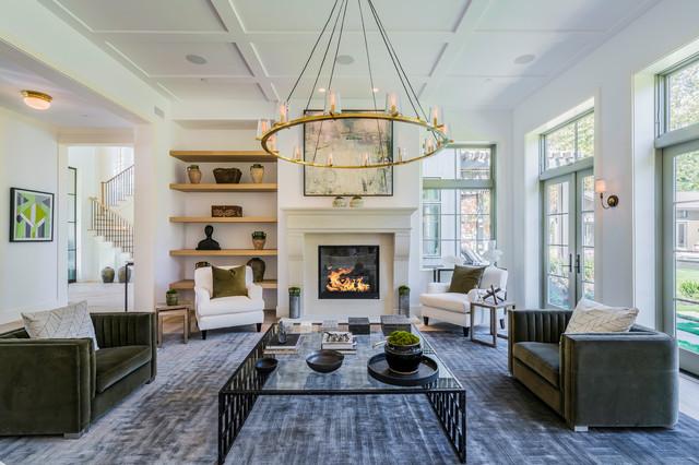 Living room - transitional living room idea in Los Angeles