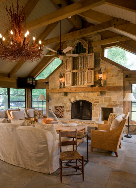 Rustic Casual Rustic Living Room Dc Metro By