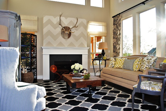 Rustic chic living room for Eclectic chic living room