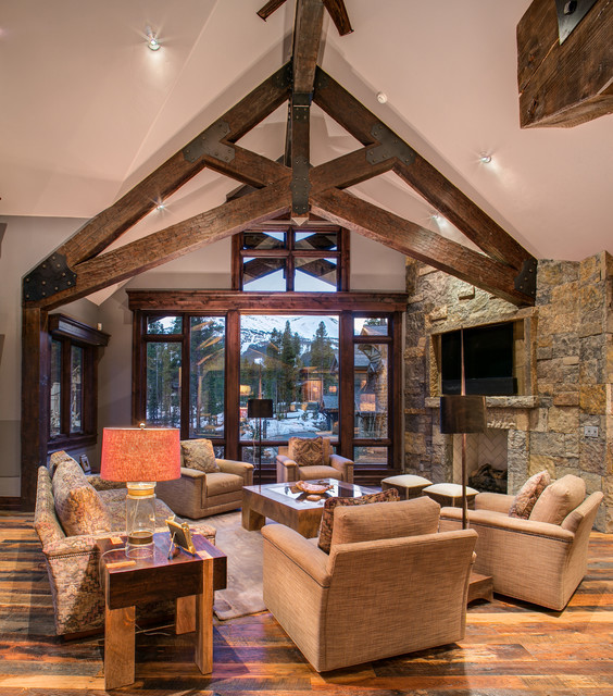 Rustic Contemporary Rustic Living Room Other Metro By Allen Guerra Ar