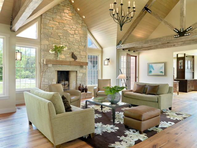 rustic contemporary - contemporary - living room - st louis -