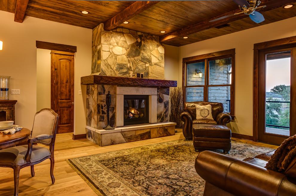 rustic contemporary  rustic  living room  austin