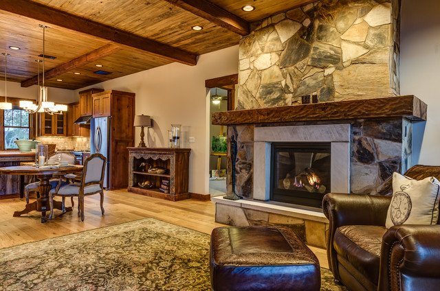 Rustic Contemporary rustic-living-room