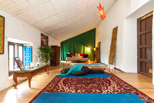 mediterranean yoga room - Home Yoga Room Design