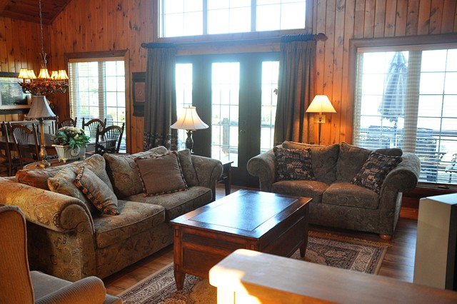 rustic cottage rustic living room toronto by