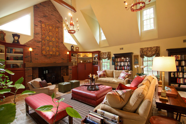 Rustic country comfort rustic living room new york - Belle maison interieur design ...