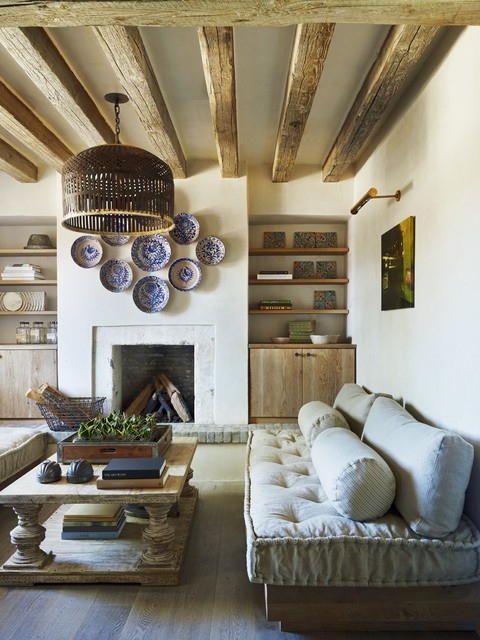 Rustic Eclectic Farmhouse mediterranean-living-room