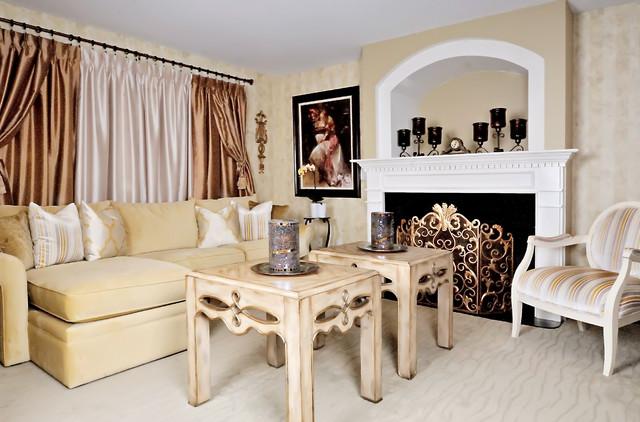 Rustic elegance traditional living room new york for Rustic elegant living room