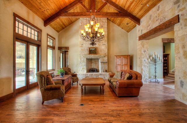 Rustic elegance in fair oaks ranch rustic living room for Rustic elegant living room