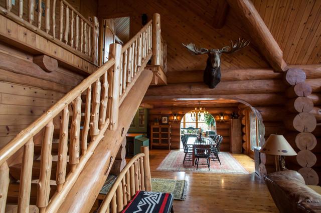 Rustic elegance log home for Rustic elegance interior design