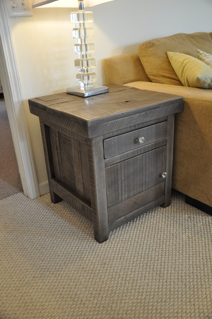 rustic end tables rustic slate gray. Black Bedroom Furniture Sets. Home Design Ideas