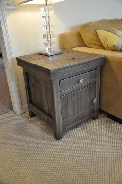 Rustic End Tables- Rustic Slate Gray in-montagna-soggiorno