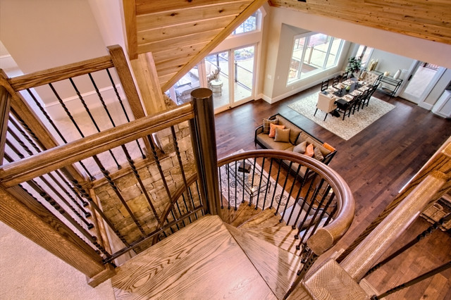 Rustic Forged Iron Spiral Staircase Salter Spiral Stair Rustic Living Room Other By