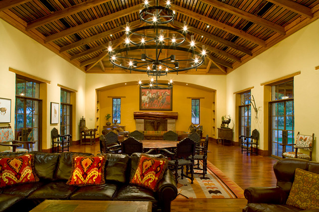 ... Rustic Hacienda Style Texas Ranch Southwestern Living For Texas Themed  Living Room ...