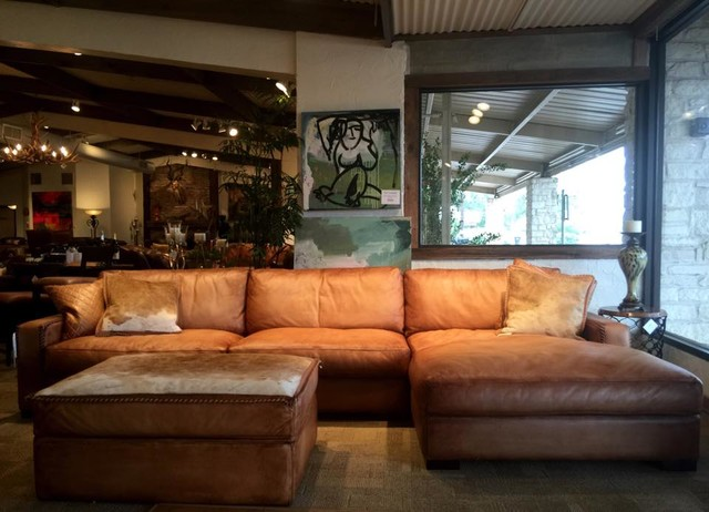 Rustic Leather Sofa By Eleanor Rigby (Austin Tx U0026 Houston Tx.) Traditional