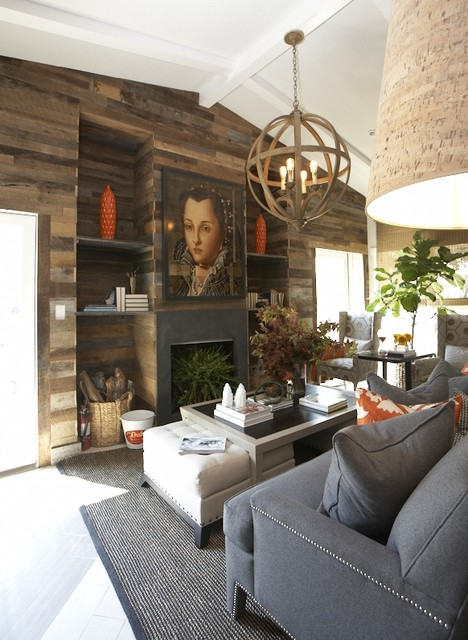 Rustic Living Area contemporary-living-room