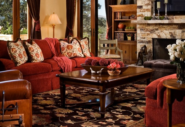 Santa Lucia Preserve, Carmel rustic-living-room