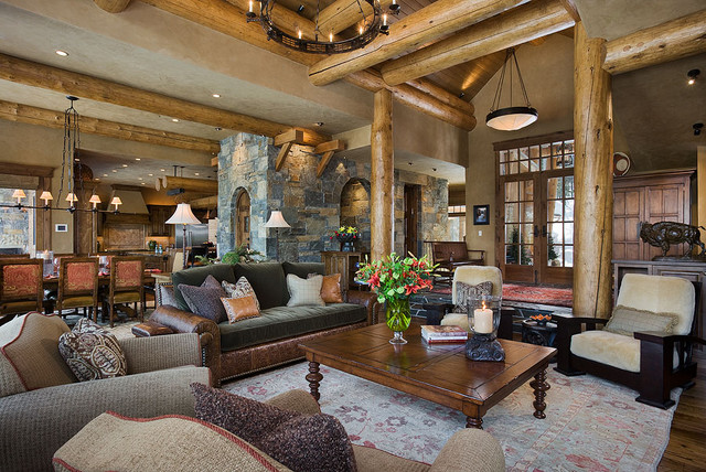Montana mix eclectic living room