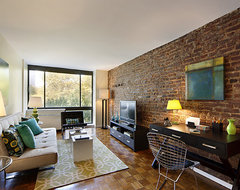 Staging in Manhattan rustic-living-room
