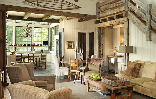 Marsh Residence rustic living room