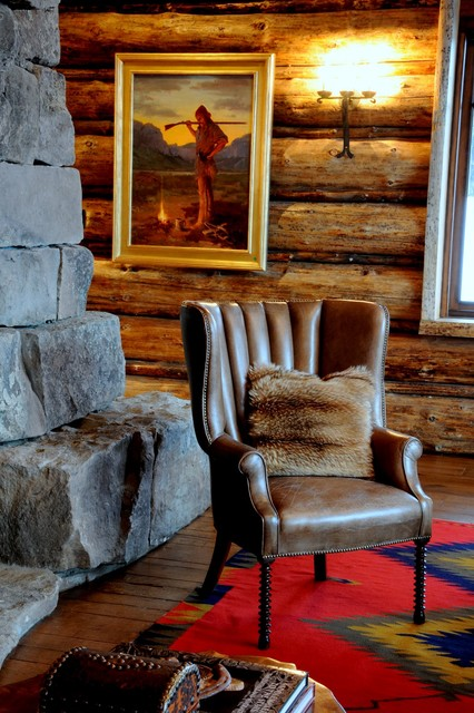 Lone Moose Lodge - Rustic - Living Room - other metro - by Peace Design