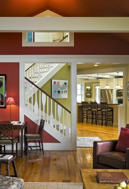 Lake House rustic-living-room