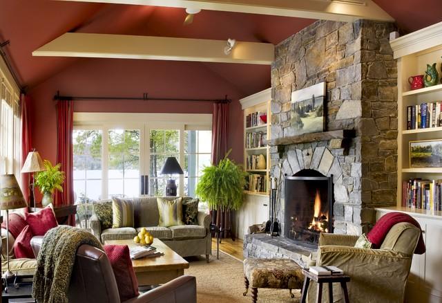 Lake House - Rustic - Living Room - burlington - by Smith ...