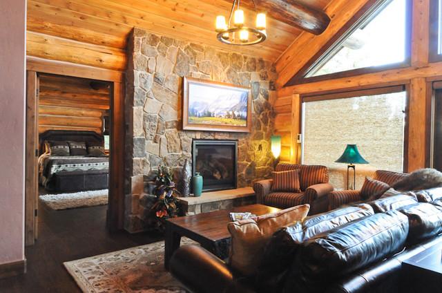 Rustic Log Cabin Rustic Living Room Denver By
