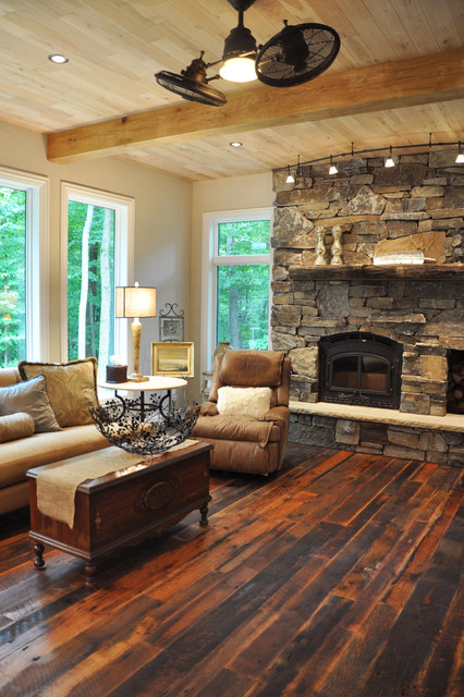 Rustic Meets Contemporary Rustic Living Room Milwaukee By Schmidt Cus