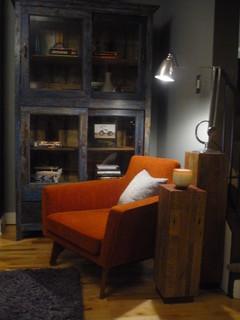 Rustic meets Mod modern dining room