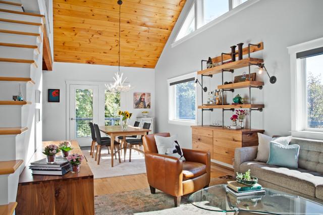 rustic modern in vermont rustic living room burlington by teri