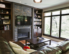 Rustic Modern Kitchen and Family Room contemporary-living-room