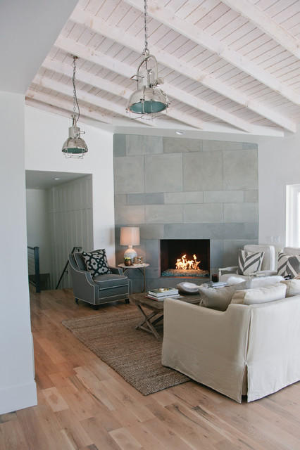 Gray And White Transitional Rustic Living Room With: Rustic Modern Living Room