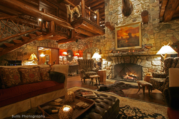 Rustic Old World Lodge - Rustic - Living Room - Minneapolis ...