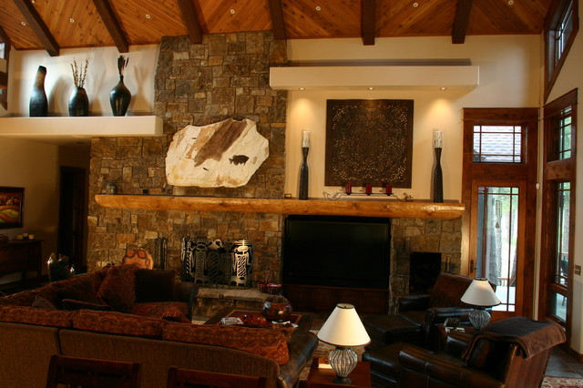 Rustic Pine Canyon Home Living Room Other By Wm