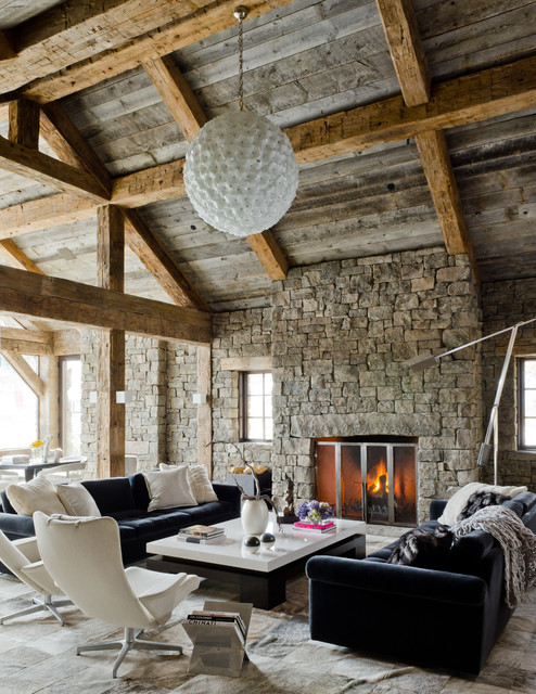 Rustic Redux - Rustic - Living Room - Other - by On Site Management ...