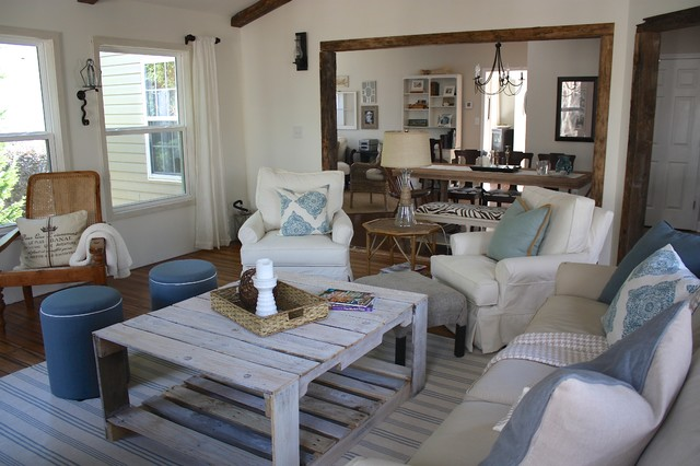Rustic Sunroom - Beach Style - Living Room - Charlotte - by Ally ...