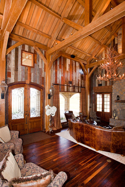 Rustic Timber Frame Home On Tx Ranch Traditional
