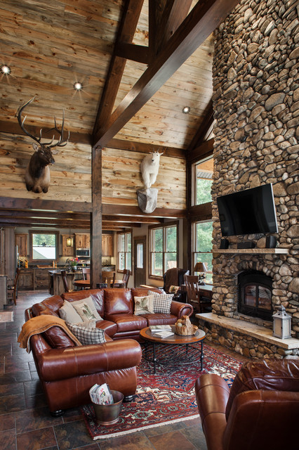 Rustic Timber Frame Home The Rock Creek Residence Great