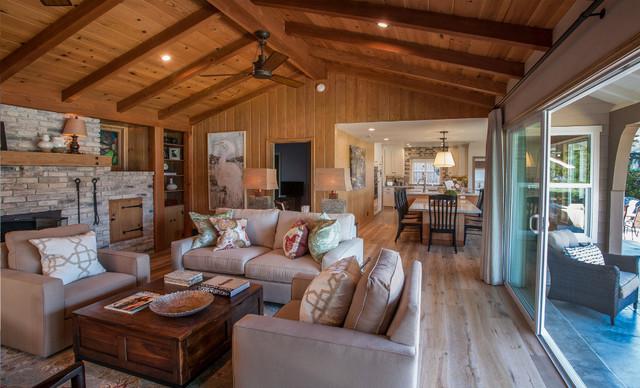 Rustic Transitional Home In Westlake Village Ca Rustic Living Room Los Angeles By
