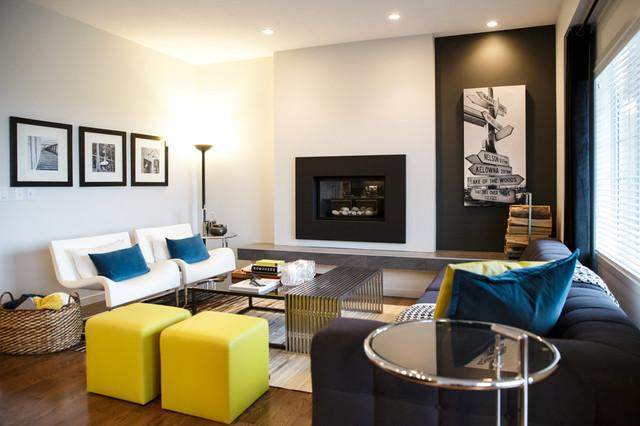 rustic urban city contemporary living room calgary by